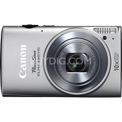Powershot ELPH 330 HS Silver 12.1MP Digital Camera with 10x Opt. Zoom and Wi-Fi