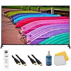 "65"" 3D 4K Ultra HD Smart TV Motionflow XR 240 Plus Hook-Up Bundle - XBR65X850B"