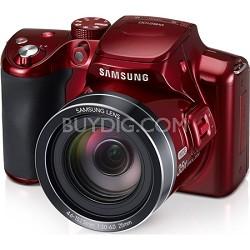 WB2100 16 MP BSI CMOS Sensor 35x Opt Zoom Digital Camera - Red