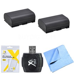 Essential LP-E6 Battery Bundle for Canon EOS 5D Mark III, 6D, 60D, 7D, 70D
