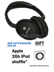 True Fidelity Around the Ear with instant GIFT of a 2Gb iPod shuffle (Black)
