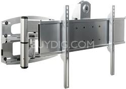 PLA-60 Articulating Swivel Wall Mount (High Gloss Silver) w/screen adapter plate