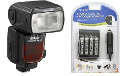 SB-910 AF Speedlight Flash - USA Warranty With Rechargeable Batteries