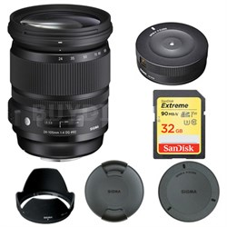 24-105mm F/4 DG OS HSM Lens for Canon 635-101 with USB Dock Bundle