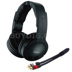 RF985RK Wireless RF Black Headphones w/ Monoprice 22AWG Cable (Gold Plated)