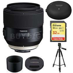 SP 85mm f1.8 Di VC USD Lens for Nikon Full-Frame DSLR Cameras w/ Lens Mount Kit