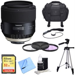 SP 85mm f1.8 Di VC USD Lens for Nikon Full-Frame DSLR Cameras with Bundle