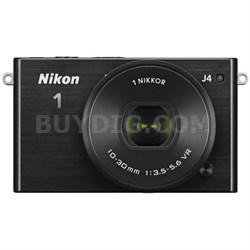 1 J4 Mirrorless Digital Camera with 10-30mm Lens - Black (Refurbished)