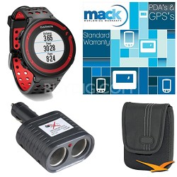 Forerunner 220 Black/Red Deluxe Bundle with Heart Rate Monitor