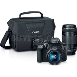 EOS Rebel T6 DSLR Camera w/ 18-55mm IS II + 75-300mm III Double Zoom Kit