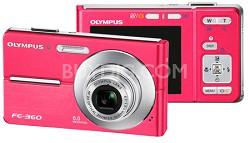 FE-360 8MP Digital Camera (Pink)