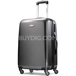 "Winfield Fashion Lightweight 24"" Hardside Spinner Luggage - Black/Silver"