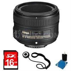 50mm f/1.8G AF-S NIKKOR Lens for Nikon Digital SLR Cameras 8GB Bundle