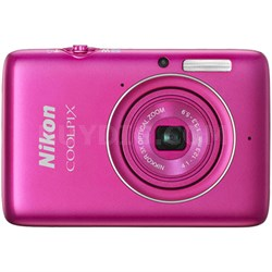 COOLPIX S02 13.2 MP 1080p HD Video Digital Camera - Pink (Refurbished)