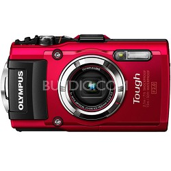TG-3 16MP 1080p HD Shockproof Waterproof Digital Camera - Red - OPEN BOX