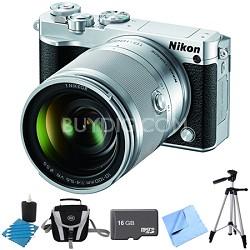 1 J5 Digital Camera w/ NIKKOR 10-100mm f/4.0-5.6 VR Lens Silver Bundle