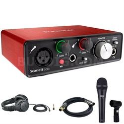 Scarlett Solo USB Audio Interface (2nd Generation) Microphone Bundle