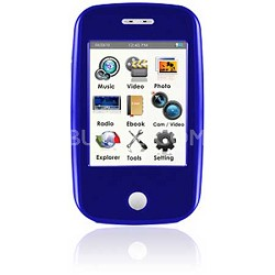 "E6 Series - 4GB MP3 Video Player w/ 3"" Touchscreen, Camera w/ Video - Blue"