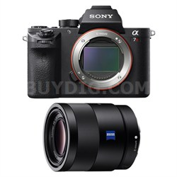 a7R II Mirrorless Interchangeable Lens Camera Body with 55mm Lens Bundle