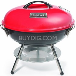 Portable Charcoal Grill, 14-Inch, Red - CCG-190RB
