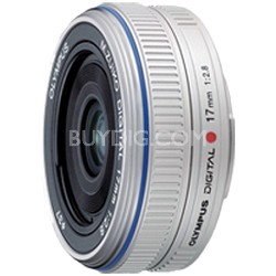 M.Zuiko 17mm f/2.8 Lens Wide-angle Pancake Lens (Silver) - 261502
