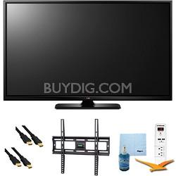 "50"" Plasma 1080p 600Hz Smart HDTV Plus Mount & Hook-Up Bundle (50PB6600)"