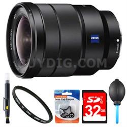 SEL1635Z 16-35mm Vario-Tessar T FE F4 ZA OSS Full-frame E-Mount Lens 32GB Bundle