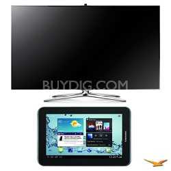 "UN55F7500 55"" 1080p 240hz 3D LED Smart HDTV and Galaxy Tab 2 Bundle"