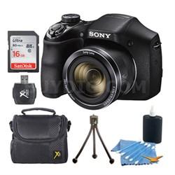 Cyber-shot DSC-H300 Digital Camera Black 16GB Kit