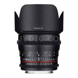 DS 50mm T1.5 Full Frame Wide Angle Cine Lens for Nikon Mount