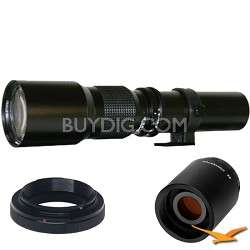 500P - 500mm f/8.0 Telephoto Lens for Olympus / Panasonic and 2x Mutliplier