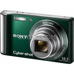 Cyber-shot DSC-W370 14MP Green Digital Camera w/ 720p HD Video - REFURBISHED