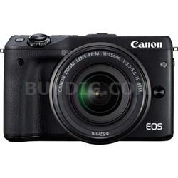 EOS M3 Wi-Fi Digital ILC Camera & EF-M 18-55mm IS STM Lens (Black)