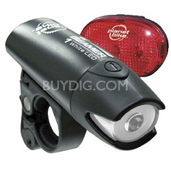 Beamer 1 and Blinky 3 LED Bicycle Light Set