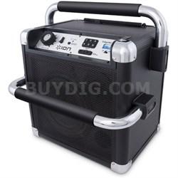 Job Rocker Heavy-Duty Wireless Bluetooth Sound System - Black Refurbished