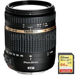 18-270mm f/3.5-6.3 Di II VC PZD Aspherical Lens f/ Canon DSLR 64GB Card Bundle