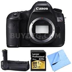 EOS 5DS R 50.6MP Digital SLR Camera (Body Only) Grip Bundle