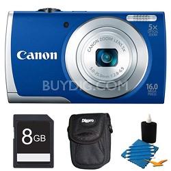 PowerShot A2600 Blue 16MP Digital Camera 8GB Bundle