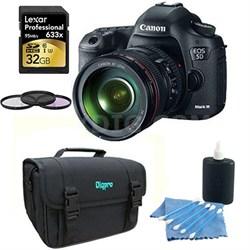 EOS 5D Mark III 22.3 MP Full Frame CMOS Digital SLR with 24-105 Lens Bundle Deal