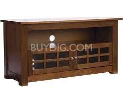 """BFV146 - Hardwood 3-Shelf A/V Cabinet for TVs up to 46"""" (Chestnut Finish)"""