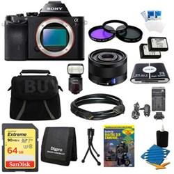 Alpha 7R a7R Digital Camera, 35mm Full Frame Lens, HVL-F60M Flash Bundle