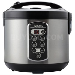 Professional 20 Cup Stainless Steel Digital Rice Cooker/Slow Cooker/Food Steamer