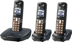 DECT 6.0 Expandable Digital Cordless Phone System with 3 Handsets