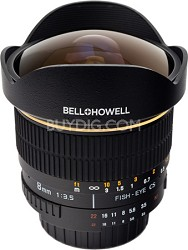 8mm f/3.5 Aspherical Fisheye Lens for Olympus 4/3 DSLR Cameras