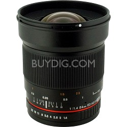 24mm F1.4 Aspherical Wide Angle Lens for Canon DSLR Cameras