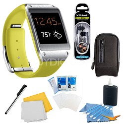 Lime Green Galaxy Gear Smartwatch Accessory Bundle