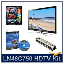 LN46C750 3D HDTV + High-performance Hook-up Kit + Power Protection + Calibration