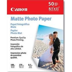 "Matte Photo Paper 8.5"" X 11"" -  50 Sheets"