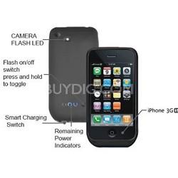 Power DX iPhone 3G 3Gs External Battery Case w/ Camera Flash (Matte Black)