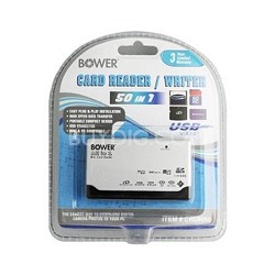 50-in-1 USB 2.0 High Speed Memory Card Reader SD,XD,CF,Micro SD,MS DUO and more
